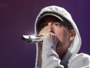 US hip-hop legend Eminem on stage at Yas Island for the Abu Dhabi Grand Prix.