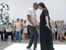 Hours he spent lip-synching new song 'Picasso Baby' on loop in a NYC gallery, as part of a Marina Abramovic-inspired performance art piece. Attendees included Pablo's granddaughter, Diana Widmaier Picasso.