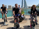 Get sweaty at an outdoor spinning class Spinning is already a super fun exercise, but you'll have even more fun taking part in this outdoor class. You'll get to enjoy the views across Bahrain Bay while burning off brunch. Brilliant.BHD6 (spa members), BHD9 (outside guests). Sat Jan 25 9.30am-10.30am. Beach Deck, Four Seasons Bahrain Bay (1711 5045).