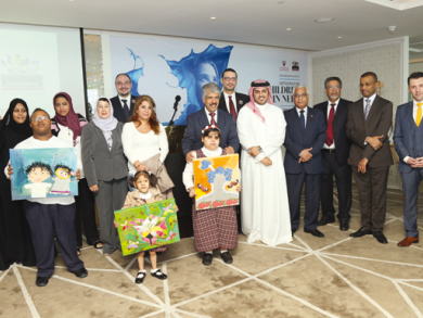 Creating art for charity in Bahrain