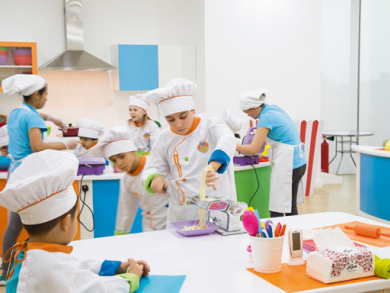 Kids' cooking studio in Bahrain