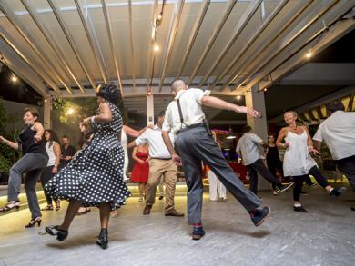 Swing dancing in Bahrain