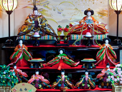 Dolls of Japan exhibition opening at Bahrain National Museum