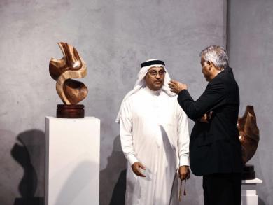 Art exhibition featuring wooden sculptures opens in Bahrain