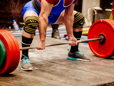 Weightlifting competition held today for Bahrain National Day