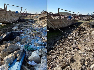 Volunteers collect more than 400 kg of rubbish from Arad beach