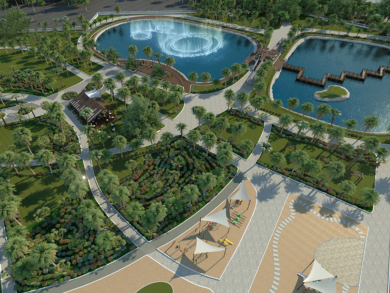 Manama's Water Garden revamp two thirds complete