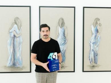 Ebrahim Khalifa wins audience award at Bahrain Fine Arts Exhibition