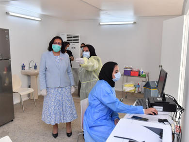 Drive-through coronavirus testing centre opens at Bahrain International Exhibition and Convention Centre