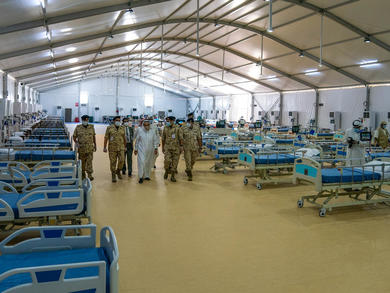Bahrain builds ICU field hospital for coronavirus patients in Sitra